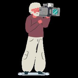 Ilustración de personaje de camarógrafo