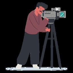 Diseño de ilustración de personaje de camarógrafo