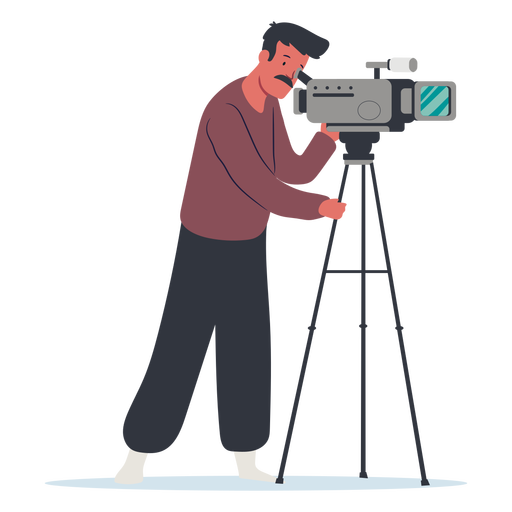 Cameraman character illustration design