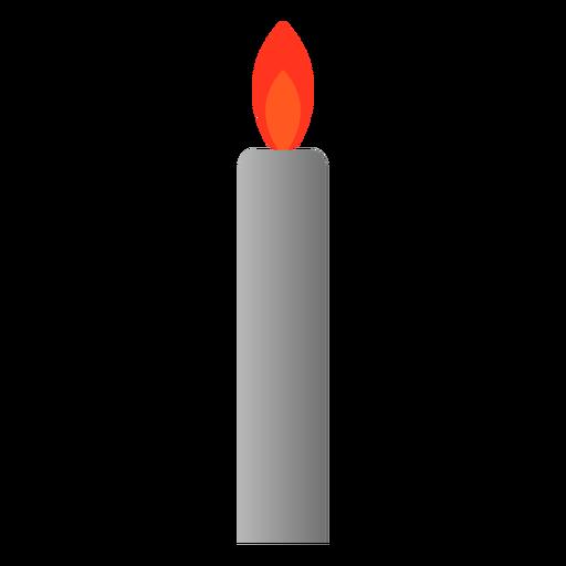 Candle light icon flat