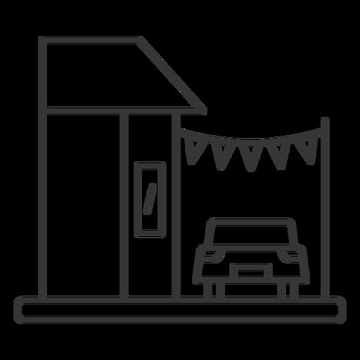 Edificio de la tienda de lavado de coches