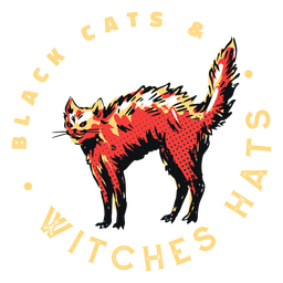 Cats and witches quote badge