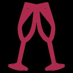 Icono de vítores de champán
