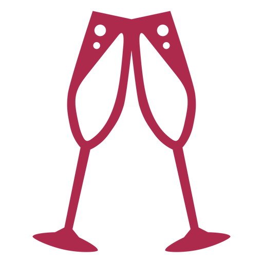 Icono de vítores de champán Transparent PNG
