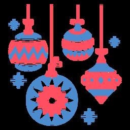 Decoracion arbol de navidad plana