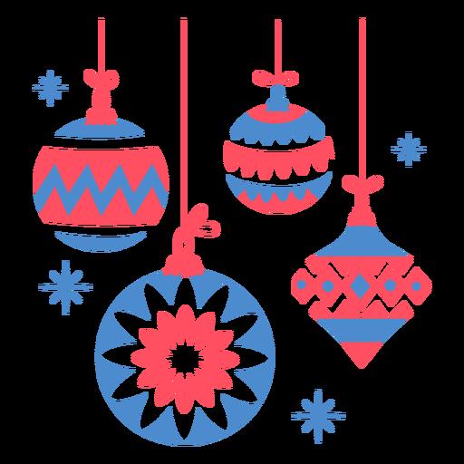 Christmas tree decoration flat Transparent PNG