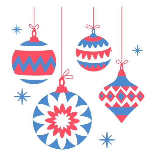 Christmas tree decoration flat