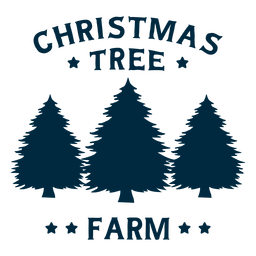 Christmas tree farm lettering