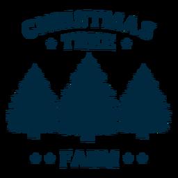 Letras de granja de árboles de navidad