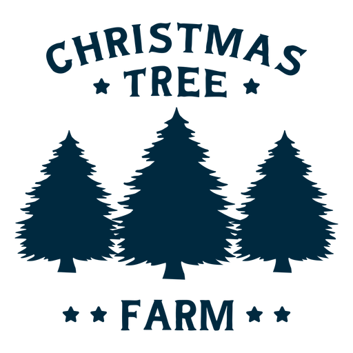 Christmas tree farm lettering Transparent PNG