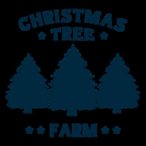 Weihnachtsbaum Farm Schriftzug