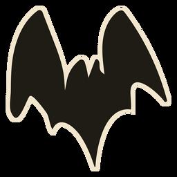 Classic bat illustration halloween