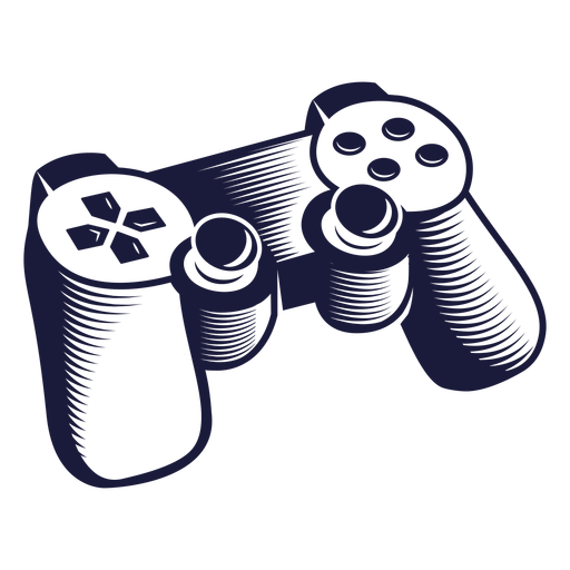 Klassische Controller-Gaming-Illustration