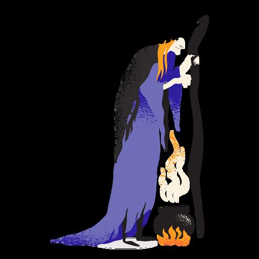 Personagem clássico do caldeirão de bruxa