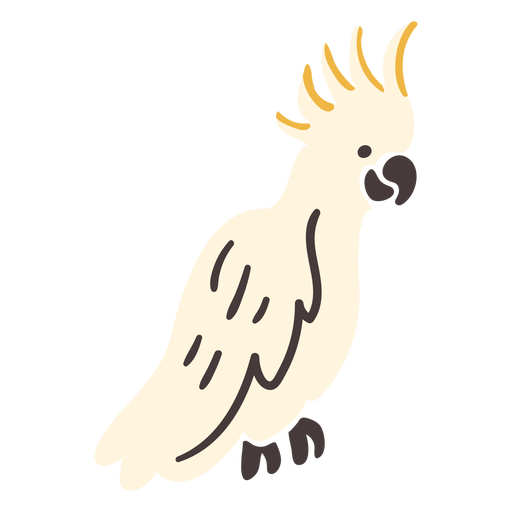 Pájaro volador tropical cacatúa