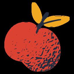 Colorful leafy apple illustration