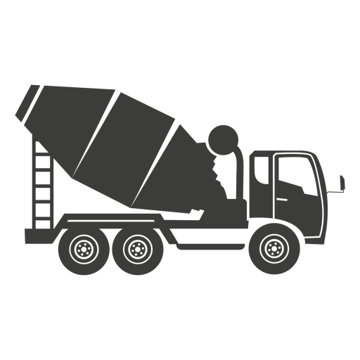 Concrete mixer construction machine illustration Transparent PNG
