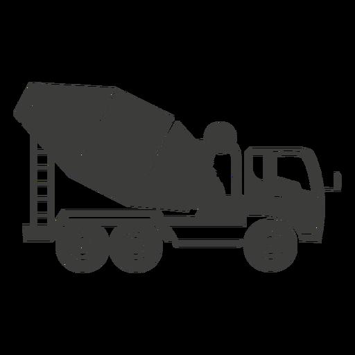 Concrete mixer construction machine illustration