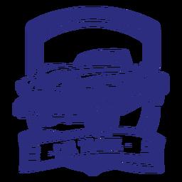 Distintivo retrô de carro conversível