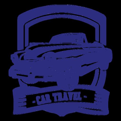 Convertible car retro badge