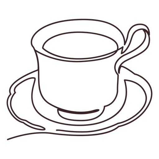 Cup hot drink line drawing