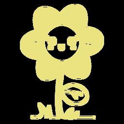 Linda flor sonriendo