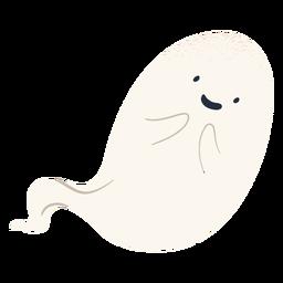 Lindo personaje fantasma de halloween