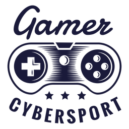 Cybersport gamer badge joystick