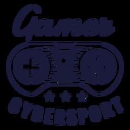 Cybersport gamer badge joystick