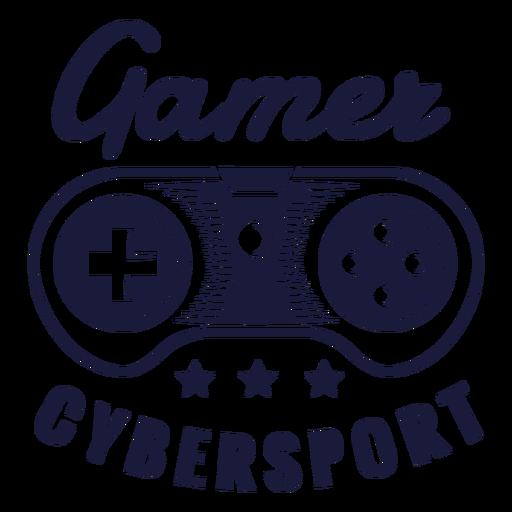 Joystick de insignia de jugador de Cybersport Transparent PNG