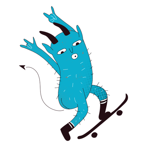 Devil skater creeature character