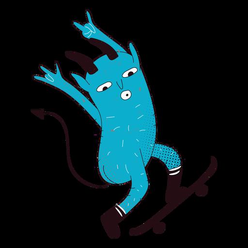 Personaje de creeature diablo patinador