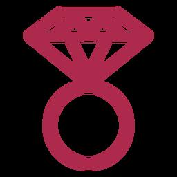 Icono de anillo de diamantes diamante