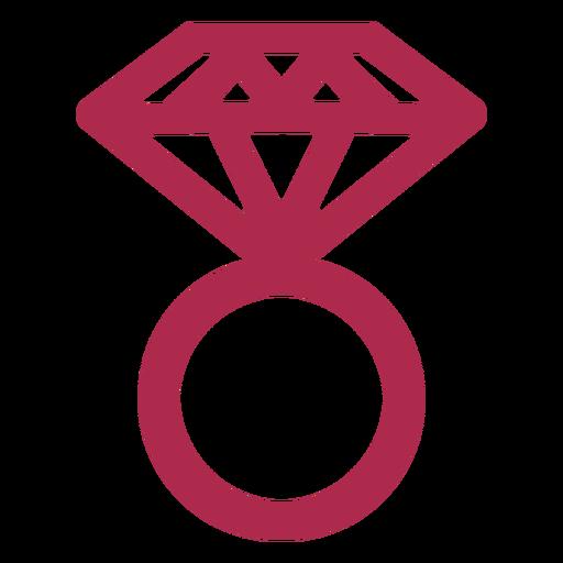 Icono de anillo de diamante diamante