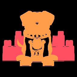 Perro vistiendo suéter de navidad