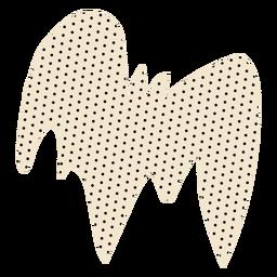Diseño de personaje de murciélago punteado