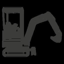 Silhueta de máquinas de construção escavadeira