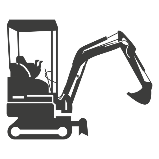 Excavator construction machinery silhouette Transparent PNG