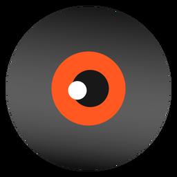 Globo ocular diseño plano halloween