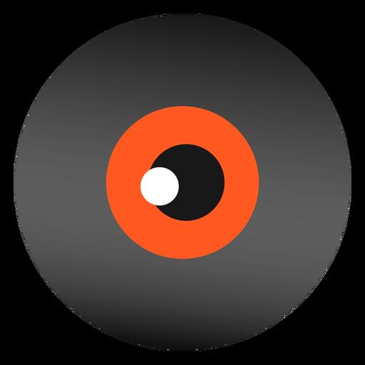 Diseño plano globo ocular halloween