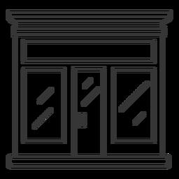 Diseño de trazo de tienda de fachada