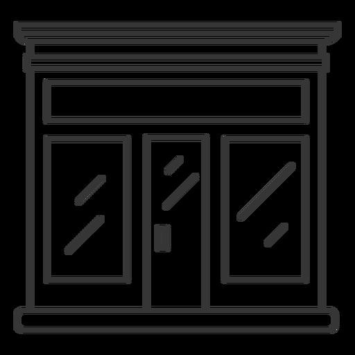 Projeto de traçado de loja de fachada