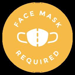 Gesichtsmaske erforderlich Kreis Design