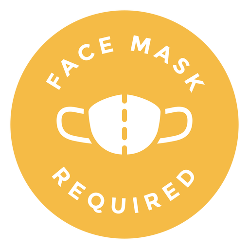 Face mask required circle design