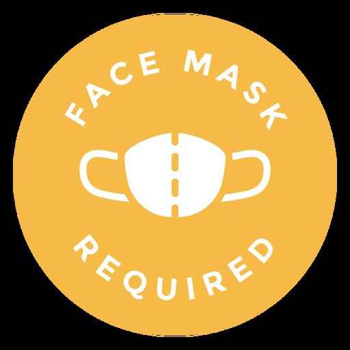 Máscara facial requer desenho de círculo