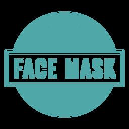 Gesichtsmaske erforderlich Zeichen
