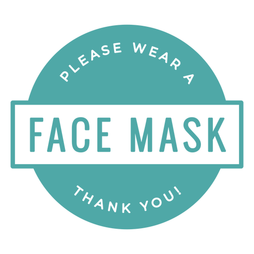 Face mask required sign Transparent PNG