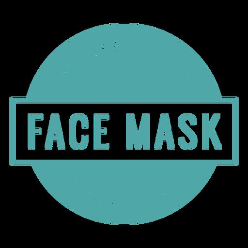 Sinal obrigatório de máscara facial