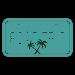 Diseño de palmeras de viaje familiar