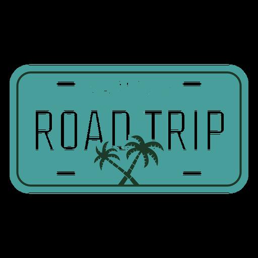 Diseño de palmeras de viaje familiar por carretera